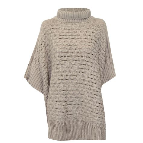 knitted jumper poncho jumper womens knitted cape sweater top check