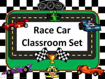 printable race car name tags classroom set race car theme by gingerose teachers pay