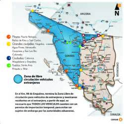 map of sonora sonora only vehicle permits from banjercito