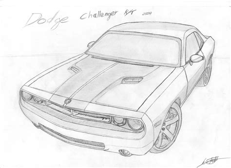 how to draw a dodge challenger drawingforall net dodge challenger 2007 by fx2b on deviantart