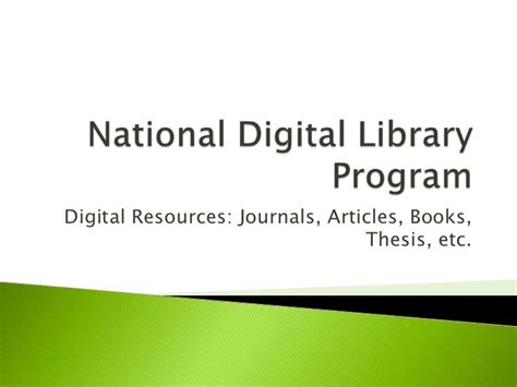 national digital library of theses and dissertations ict status in higher education sector of pakistan june 2011