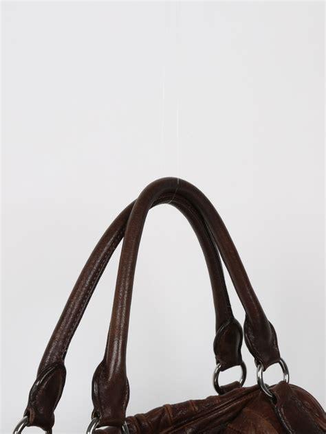Miu Miu Brown miu miu brown leather stripped bag luxury bags