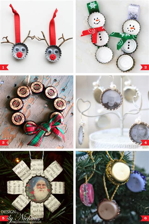 bottle cap ornaments diy bottle cap ornaments chickabug