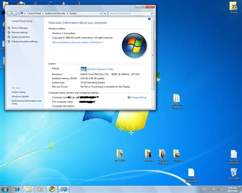 windows 7 home basic standard color scheme os