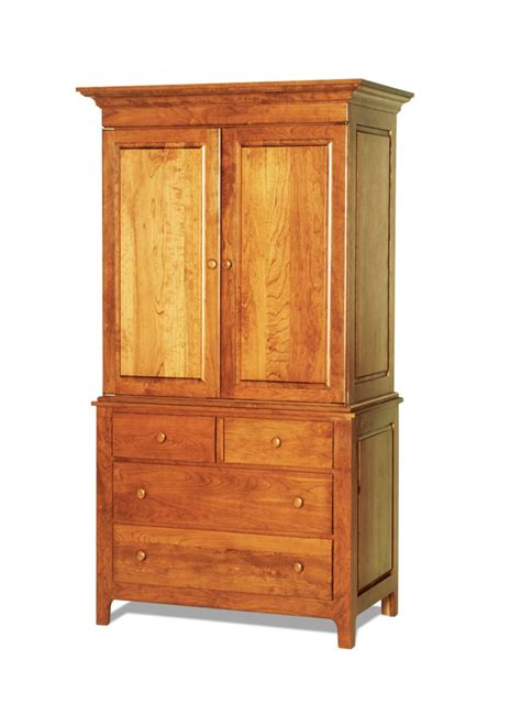 Amish Armoire by Shaker Wardrobe From Dutchcrafters Amish Furniture