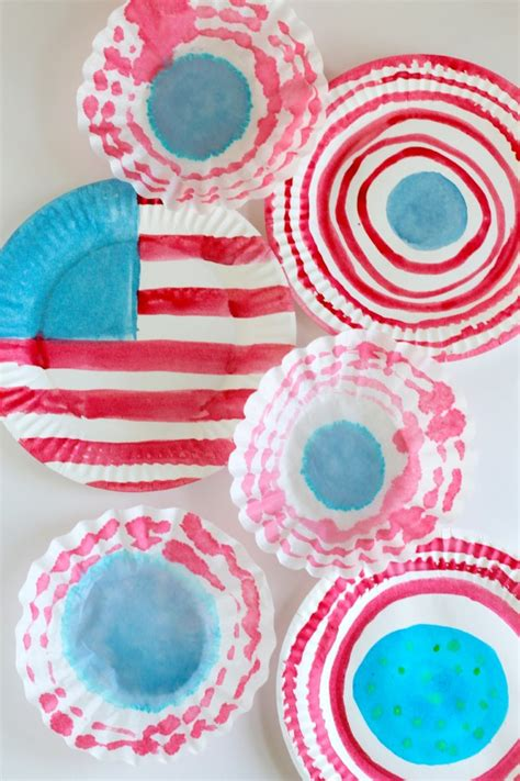 the color of water in july watercolor flags for the 4th of july make and takes