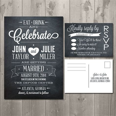 eat drink and celebrate chalkboard collection diy