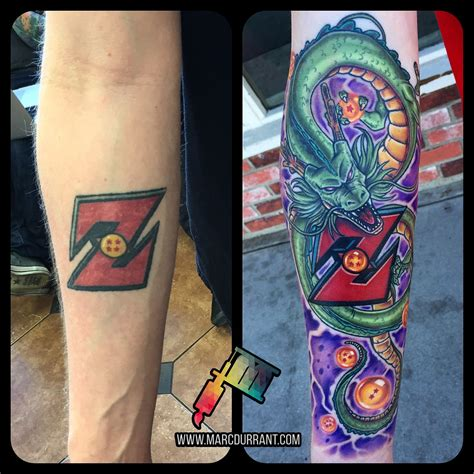 dragon ball z tattoos z eternal fix up done by me marc