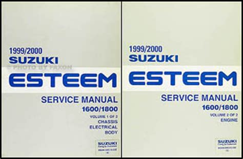 how to download repair manuals 1998 suzuki esteem transmission control 1998 2001 suzuki esteem wiring diagram manual original