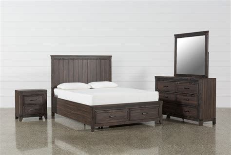 hendricks  piece eastern king bedroom set living spaces