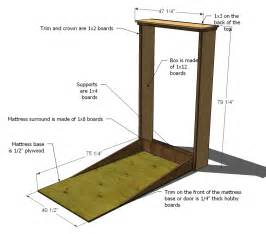 Murphy Bed Construction Kit Murphy Bed Hardware Kit And Plans Furnitureplans