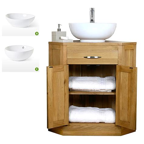 Corner Bathroom Vanity Units 50 Oak Corner Vanity Unit With Basin Bathroom Prestige