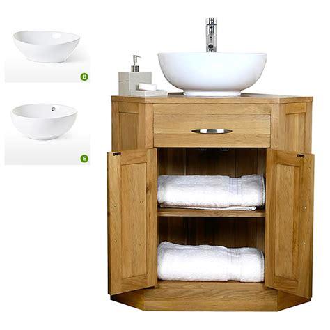 50 off oak corner vanity unit with basin bathroom prestige