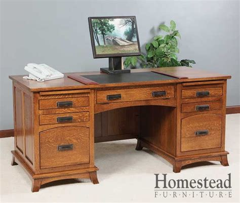 mission style executive desk mt eaton executive desk this traditional office desk
