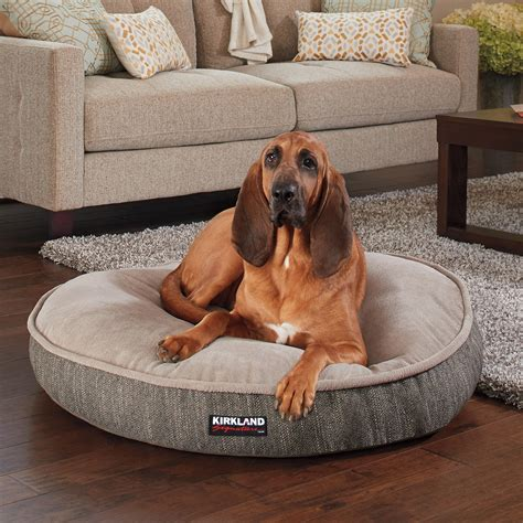 kirkland dog bed kirkland signature 42 quot round pet bed grey textured brown