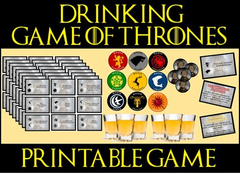 birthday themed drinking games game of thrones drinking game printable