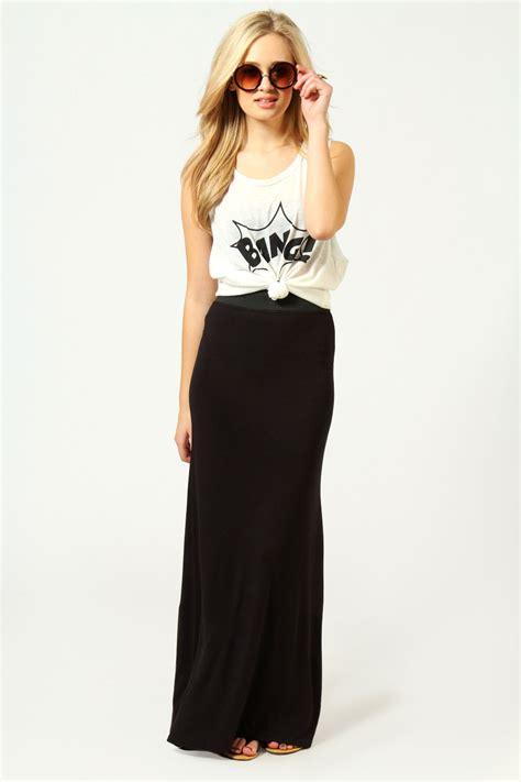 boohoo narin jersey length maxi skirt ebay