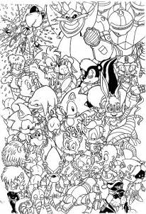 Sonic adventure coloring pages