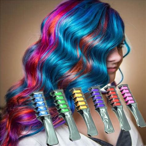 comb in hair color aliexpress buy fashion design crayons hair color