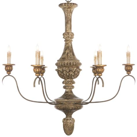 Antique Gold Chandeliers Remmy Country Antique Gold Chandelier Kathy Kuo Home