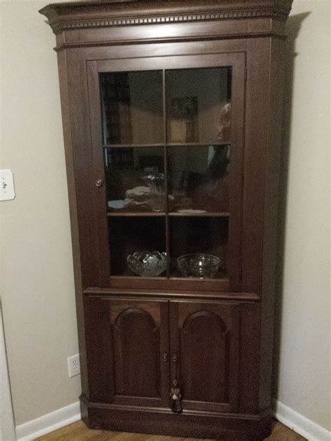 antique corner china cabinet furniture pennsylvania house corner china cabinet circa 1960 no