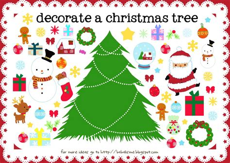 free printable christmas tree craft kids decorate activity