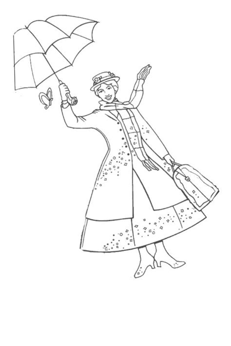 mary poppins free coloring pages