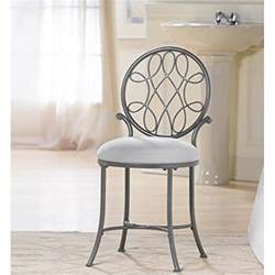 Vanity Chair For Bedroom Vanity Stool Silver Accent Chair Metal Modern Kitchen