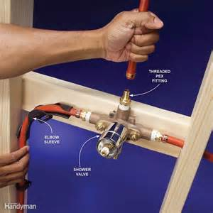 Faucet Mounting Bracket Plumbing With Pex Tubing The Family Handyman