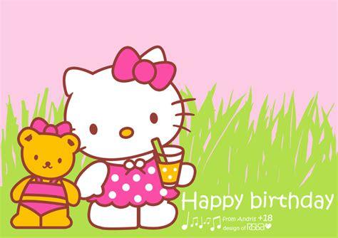 hello kitty wallpaper happy birthday hello kitty birthday wallpaper wallpapersafari