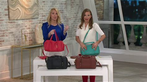 Vera Bradley Gallatin Satchel vera bradley sycamore leather satchel mallory on qvc