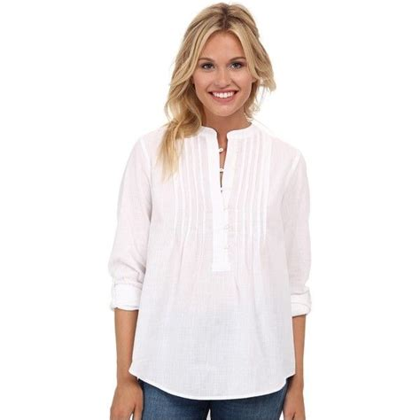 Blouse Branded White lucky brand white peasant shirt s blouse white 56 liked on polyvore featuring tops