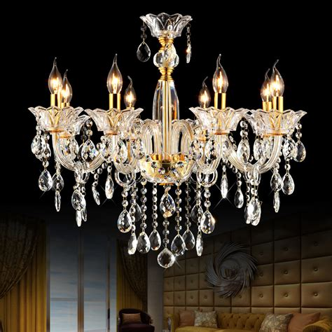 Glass Chandeliers For Dining Room Aliexpress Buy Modern Glass Chandelier Bedroom Ceiling Chandelier 8 Lights Luxury