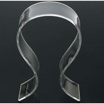 Acrylic Warna 5mm Stand Holder Display Headphone Headset Acrylic Universal Transparent Jakartanotebook