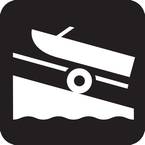 boat launch icon boat launch black clip art at clker vector clip art