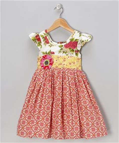 Dress Anak White Print Flower Pinkrsby 1384 moxie mabel bright coral lottie a line dress infant clothing a line and