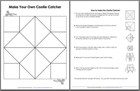 cootie catcher template cootie catchers for learning basics facts these are