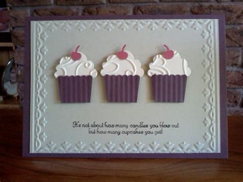 Handmade Cupcake Cards - best 25 cupcake card ideas on paper punch