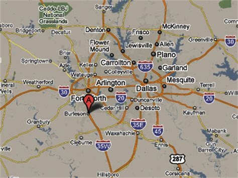 burleson texas map sighting reports 2010