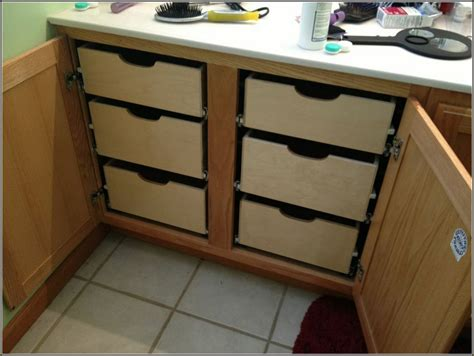 How To Put Drawers In A Cabinet by Kitchen Cabinet Pull Out Drawers Furniture Tray Dividers