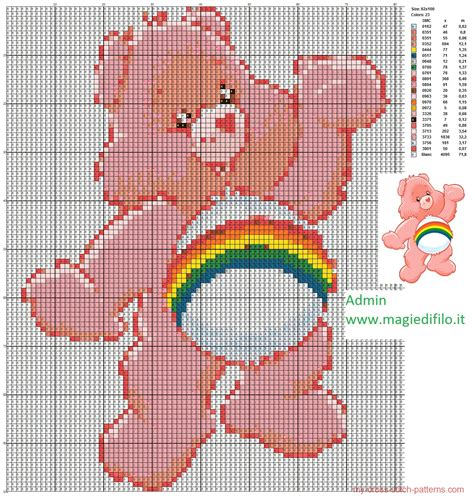 pattern maker software cross stitch cheer bear cross stitch pattern 1464x1540 1655292