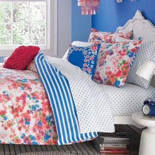 teen vogue rosie posie cotton  piece comforter set