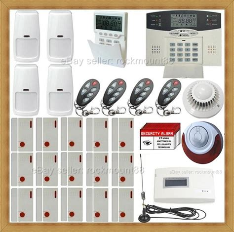 gsm cellular wireless home security system house alarm w