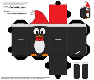 Penguin Papercraft - cubee penguin by cyberdrone on deviantart