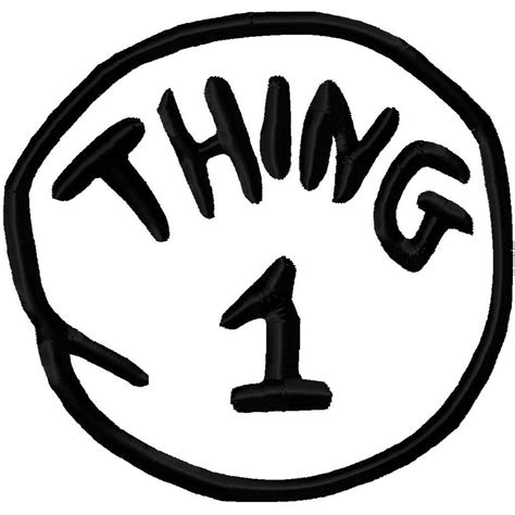 thing 1 printable image clipart best