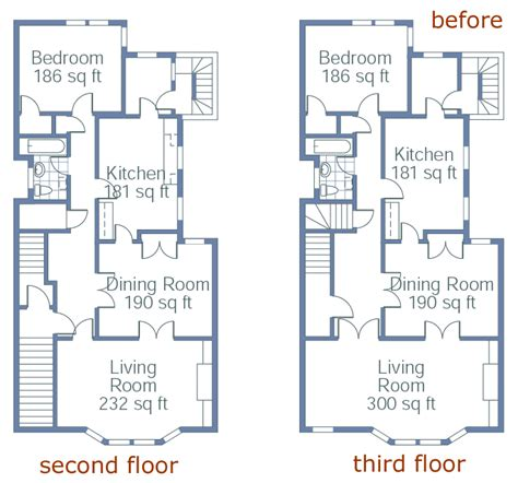 town house plans townhouse transformed floor plans