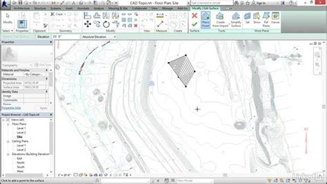 revit tutorial topography creating topography from a dwg link