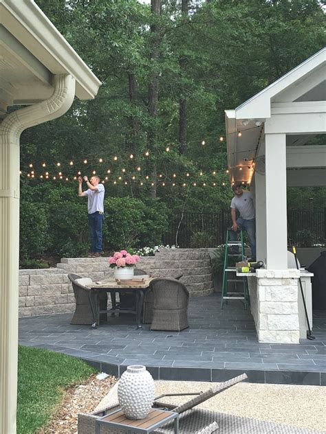 string outdoor patio lights tips for hanging outdoor string lights