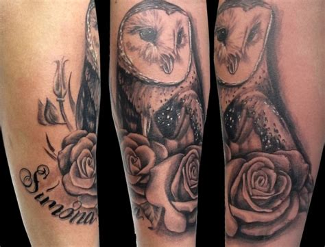 bed of roses tattoo 15 outstanding owl tattoos me now