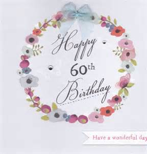 flowers and butterflies 60th birthday card karenza paperie